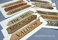 Printable Wooden Arrow Signs / Rustic Photo von TheQuirkyBriars