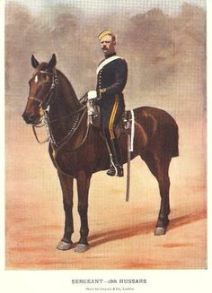 18TH HUSSARS - SARGEANT MILITARY C1900 PRINT BOER WAR | eBay