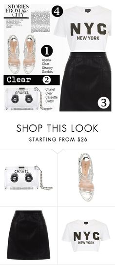 """""""Clear Accessories"""" by tawnee-tnt ❤ liked on Polyvore featuring Chanel, Aperlaï, New Look, Topshop, clear and Seethru"""