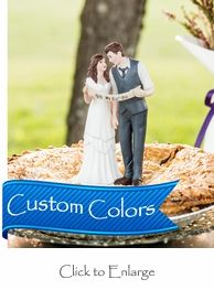 """""""We Did!"""" Indie Style Rustic Wedding Bride & Groom Couple Wedding Cake Topper Looks exactly like my fiance and I."""