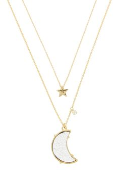 To the Moon & Back Necklace by Olivia Welles on @HauteLook