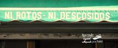 Aprende español callejeando por Madrid: Un roto para un descosido. #ELE #español #Spanish #vocabulario #expresiones #tiendas #prefijos