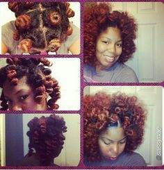 Bantu knot out. All natural hair. Beautiful ♥