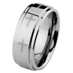 9mm Cross Cobalt Free Tungsten Carbide COMFORT-FIT Wedding Band Ring for Men and Women (Size 5 to 15) GoldenMine. $18.00. All tungsten rings include free standard shipping with purchase of over $30. Tungsten Carbide is one of the hardest metals on earth, making Tungsten Wedding Bands quite literally scratch proof. **Does not apply for coated Tungsten Bands**. Promptly Packaged with Free Gift Box...Perfect for gift giving.. New to the Jewelry World, Tungsten Rings are gro...