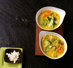 Brokkoli-Curry-Suppe