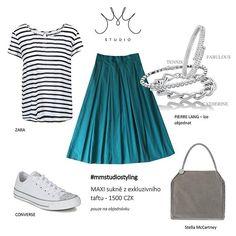 #mmstudio #mmstudiostyling #mmstudiolook #maxiskirt #summercolors #summerfashion #converse #pierrelang…