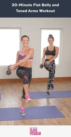 Flat Abs & Toned Arms Workout - Fitness Plans - Ideas of Fitness Plans - Flat-Belly and Toned-Arms Workout Fitness Workouts, Lower Ab Workouts, Yoga Fitness, Easy Workouts, At Home Workouts, Fitness Motivation, Workout Diet, Arm Workouts Women, Workout Board