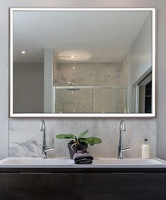 6d510a769425 Radiance LED Lighted Mirror by Electric Mirror Bathroom Mirror Lights