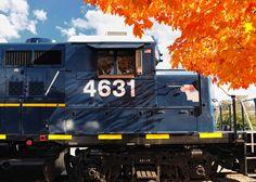 Blue Ridge Scenic Railway in the fall.  Blue Ridge, GA