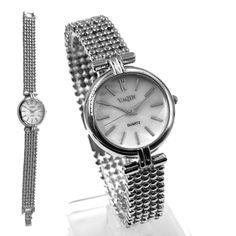 FW949B Round PNP Shiny Silver Kasse White Dial Ladies Women armbånd Watch