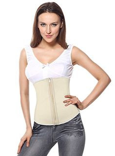 1f753f4d3913c Charmian Women s Latex Underbust Waist Training Steel Boned Shapewear Corset  at Amazon Women s Clothing store