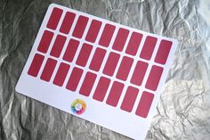 Red Blank Labels - 27 Stickers