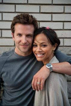 Bradley Cooper & Zoe Saldana. Cute while they were together. Both have moved on