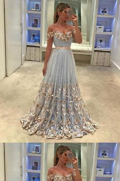 Prom Dress Princess, unique tulle light blue long prom dress, tulle evening dress Shop ball gown prom dresses and gowns and become a princess on prom night. prom ball gowns in every size, from juniors to plus size. Unique Prom Dresses, A Line Prom Dresses, Tulle Prom Dress, Prom Party Dresses, Homecoming Dresses, Pretty Dresses, Lace Dress, Bridesmaid Dress, Tulle Lace