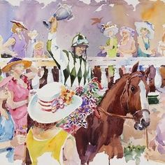 Kentucky artist Jim Cantrell was commissioned to create the Derby's official artwork for the 143 Running of the Kentucky Derby and the Kentucky Oaks. This artwork will be featured on this years Kentucky Derby and Kentucky Oaks posters, tickets, souvenir racing programs and other keepsakes. This particular picture was for the Kentucky Oaks, which kicks off the horse racing season on the first weekend of every May. The Derby allows any eligible colt, gelding or filly to participate, while the…