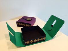 CraftyCarolineCreates: Slider Opening Gift Box - Video Tutorial using Moroccan Nights by Stampin' Up