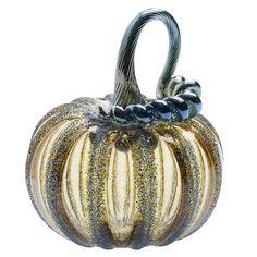 Cat Burns: Amber/Iris Pumpkin  #cmogshops #glass #pumpkin #decor #fall