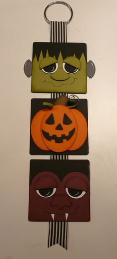 2014  Halloween Banner  This was made with 4 x 4 coasters.