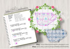 Little room in the attic by Maria Demina: Lace Cup free cross stitch pattern. Full version is available here: https://www.etsy.com/ru/listing/234298311/lace-kettle-and-cup-pdf-cross-stitch