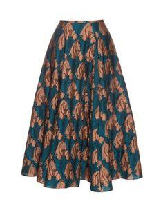 Eleanor fil coupé midi skirt by Emilia Wickstead