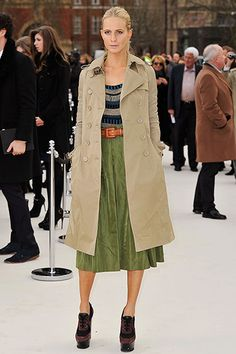 In the Trenches: Celebrity Trench Coats Through the Years - Poppy Delevingne,  2012