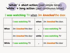 When/while past tenses