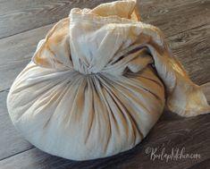 Flour Sack Pumpkin - Burlap Kitchen Diy Pumpkin, Pumpkin Crafts, All Candy, Candy Corn, Burlap Kitchen, Flour Sacks, Autumn Crafts, Coffee Staining, Fall Diy