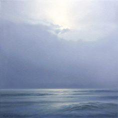 """""""Seestück"""", Painting, oil on canvas, 2009, 40 x 40 x 4 cm - Malte von Schuckmann"""