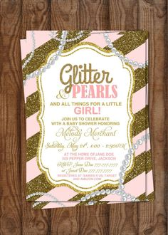 DIY Printable Baby Shower It's a Girl  Glitter by PerfectedbyGrace