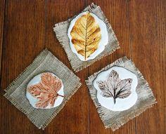 Herbstliche Gips-Dekorationen