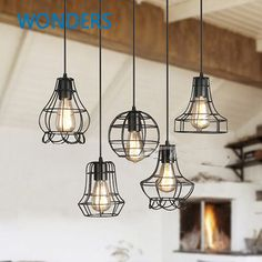 Design scandinavo ciondolo luce rh loft capannone industriale lampada sala da pranzo den bar comodino lampade a sospensione in ferro