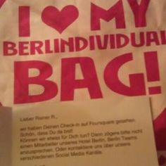 Our Berlin Bag as surprise for the Foursquare check-in