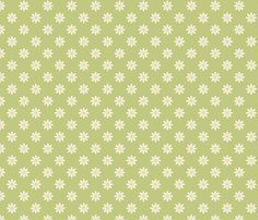 marguerite_fond_vert_M by nadja_petremand, click to purchase fabric