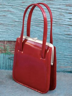 Red Patent Leather Handbag by NaturalFree on Etsy, $50.00