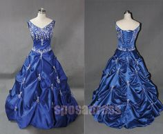 blue wedding dress wedding gown dress custom wedding by sposadress, $299.00