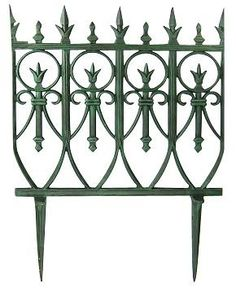 Great 24 Inch Cast Iron Garden Edging Pair   Measures 24 Inches Tall And 17  Inches Wide
