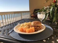 Dining with a View: Crock Pot Pulled Chicken Sandwiches Pulled Chicken Sandwiches, Beach Vacation Rentals, Panama City Beach, Beach Condo, Condos, Slow Cooker Recipes, Crock Pot, Dining, Eat