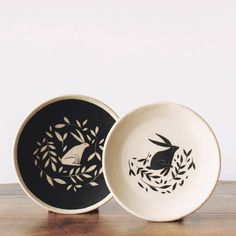 pottery painting designs B&W Plate S cm H cm Plate XS cm H cm # Ceramic Clay, Ceramic Painting, Ceramic Plates, Porcelain Ceramics, Fine Porcelain, Pottery Painting Designs, Pottery Designs, Pottery Bowls, Ceramic Pottery