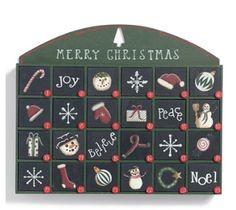 Merry Christmas wood advent calendar
