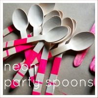neon party spoons diy by Modern Frills