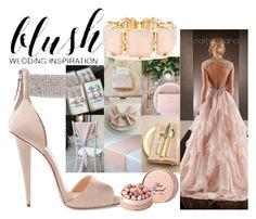 """Blush Wedding Inspiration"" by burlapandsilk on Polyvore featuring Giuseppe Zanotti, R.J. Graziano, women's clothing, women's fashion, women, female, woman, misses and juniors"