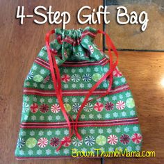So easy, I can totally do this! And I'll never have to buy wrapping paper again!