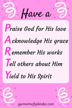 Five ways to have a P.A.R.T.Y