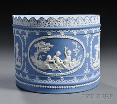 Blue Jasper Dip Bough Pot, England, early 19th century