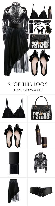 """Sin título #1434"" by meelstyle ❤ liked on Polyvore featuring Cosabella, Olympia Le-Tan, NARS Cosmetics, Amen Couture, Christopher Kane, Alaïa and Retrò"