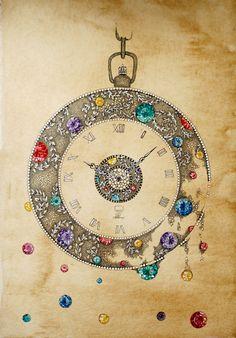 Jewelled Drawing. Magic is All Around Us by Elena Limkina, via Behance