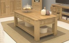 mobel oak 4 drawer coffee table https www tradepricefurniture co