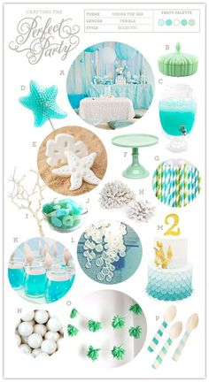 """Use this inspiration board to plan your own """"Under the Sea"""" party this Summer."""