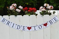 Bride to be  Banner  ..  Bridal Shower Decorations   ..   Bridal Shower Banners   ..  Wedding Shower