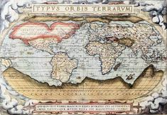 a Map from 1570. The Antarctic continent was vastly exaggerated, as it was yet unexplored. The desire to uncover its secrets drove exploration to the region.